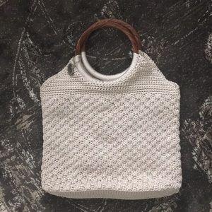 The SAK Original Natural Wood Handle Crochet Purse